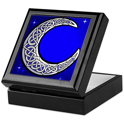 CafePress The Celtic Moon Keepsake Box, Finished Hardwood Jewelry Box, Velvet Lined Memento Box