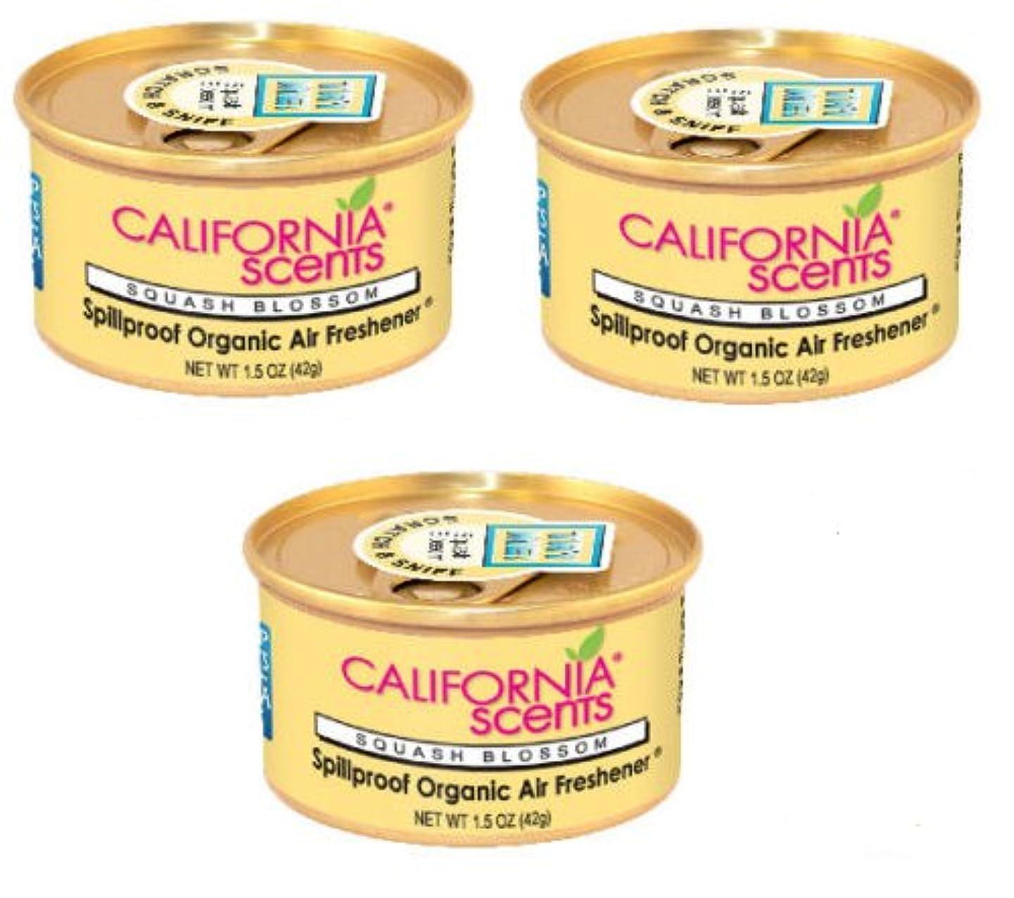 California Scents Air Freshener NEW SCENTS!! SET OF 3 (SQUASH BLOSSOM)