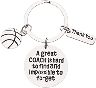 Basketball Coach Keychain, Basketball Coach Gifts, Great Coach is Hard to Find Coach Keychain for Men and Women
