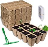 Seed Starter Trays Biodegradable Seedling Tray...