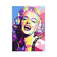 ポップアートパネルMarilyn Monroeポスターセクシー女性スター壁アートパネルカラフル落書き写真有名なスターヴィンテージキャンバス絵画インテリア抽象印刷リビングルーム部屋装飾画