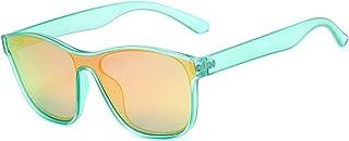 qiufeng - qiufeng Nuevas Gafas de Sol cuadradas polarizadas para Hombres y Mujeres, Gafas de Sol cuadradas para Hombre, diseño de Marca, Lentes de una Pieza, Gafas UV400, Verde, Rojo