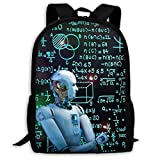 Mochila Escolar, Black Intelligence 3D Rendering Robot School Backpack Knapsack Fashion Daypack Children Laptop Bags For Boys Girls