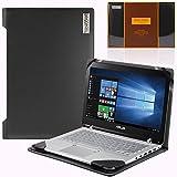 Broonel London - Profile Series - Etui noir en cuir de luxe pour ordinateur portable pour Asus Chromebook C301SA-R4028 13.3 Inch...