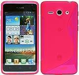 ENERGMiX Silikon Hülle kompatibel mit Huawei Ascend Y530 Schale Tasche in Pink