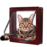 vlocemon Large Interior Cat Door (Outer Size 9.9' x 9.2') 4-Way...