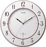 シチズン 高精度電波木枠掛時計 ピンクメタリック 1個 4MY830-013