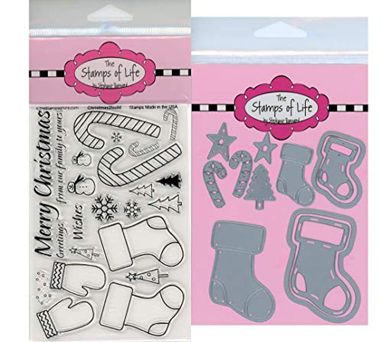 Stocking Christmas Stamps and Dies for Scrapbooking and Card-Making by The Stamps of Life - Christmas2Build and Die