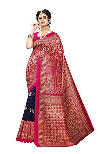 7 Colours Women's Mysore Silk Saree With Blouse Piece.