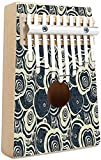 Groovy Kalimba - Piano de pulgar de 10 teclas, estilo antiguo, estilo hippie, con pintura de arcoíris goteando, mediados de los 60, movimiento de revolución juvenil, tema portátil, piano de dedo, mús