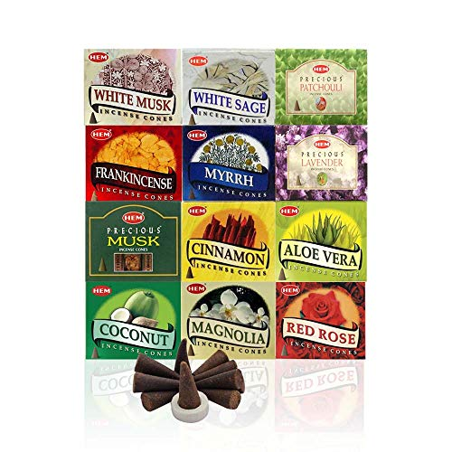 Hem 12 Assorted Boxes of Incense Cones, 12 X...