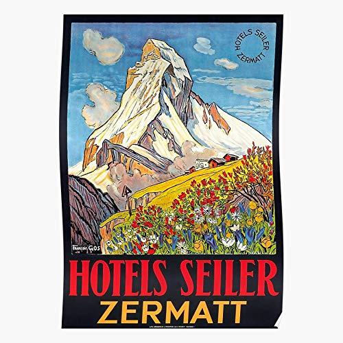 dressbarn Zermatt Seiler Matterhorn Switzerland Hotel Alpine Swiss Winter Das eindrucksvollste und stilvollste Poster für Innendekoration, das derzeit erhältlich ist
