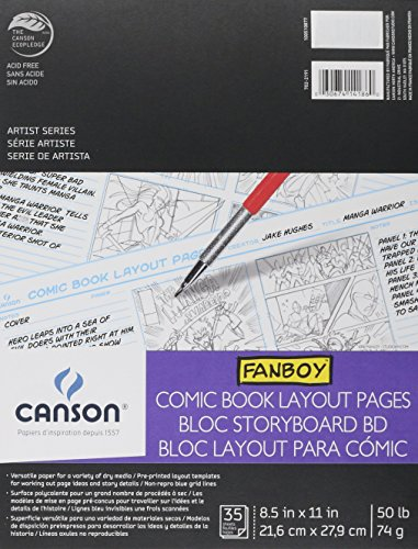 Canson Fanboy Comic Book Layout Pages 8 1/2 in. x 11 in. 35 sheets