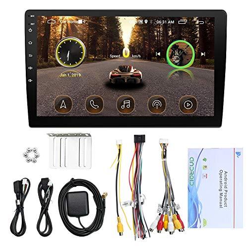 Luntus 2 DIN Android 8.1 10 pulgadas Autoradio Navegación GPS para coche WiFi Car MP5 Reproductor multimedia (9101)