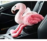 MS-Y Car Tissue Box Creative Cartoon Flamingo armrest Box seat Type Plush Napkins Pumping Paper Towel Set