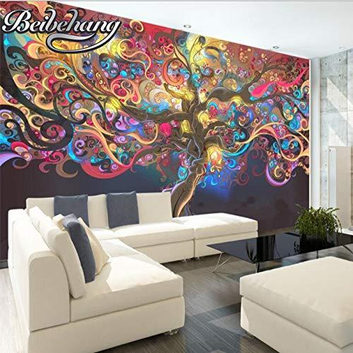 Qinmon 3D muurbehang muursticker op maat Abstract schilderij achtergrond landschap meubels tv achtergrond decoratie muurstickers 250cmX170cm|98.42(in) X66.92(in)