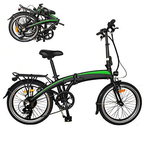 Bicicleta Plegable electrica Adultos Bicicleta Plegable Bicicleta eléctrica Plegable 250W Bicicleta de montaña eléctrica Equipada con batería de 36V / 7.5AH Adecuado para Hombres y Mujeres Adultos.