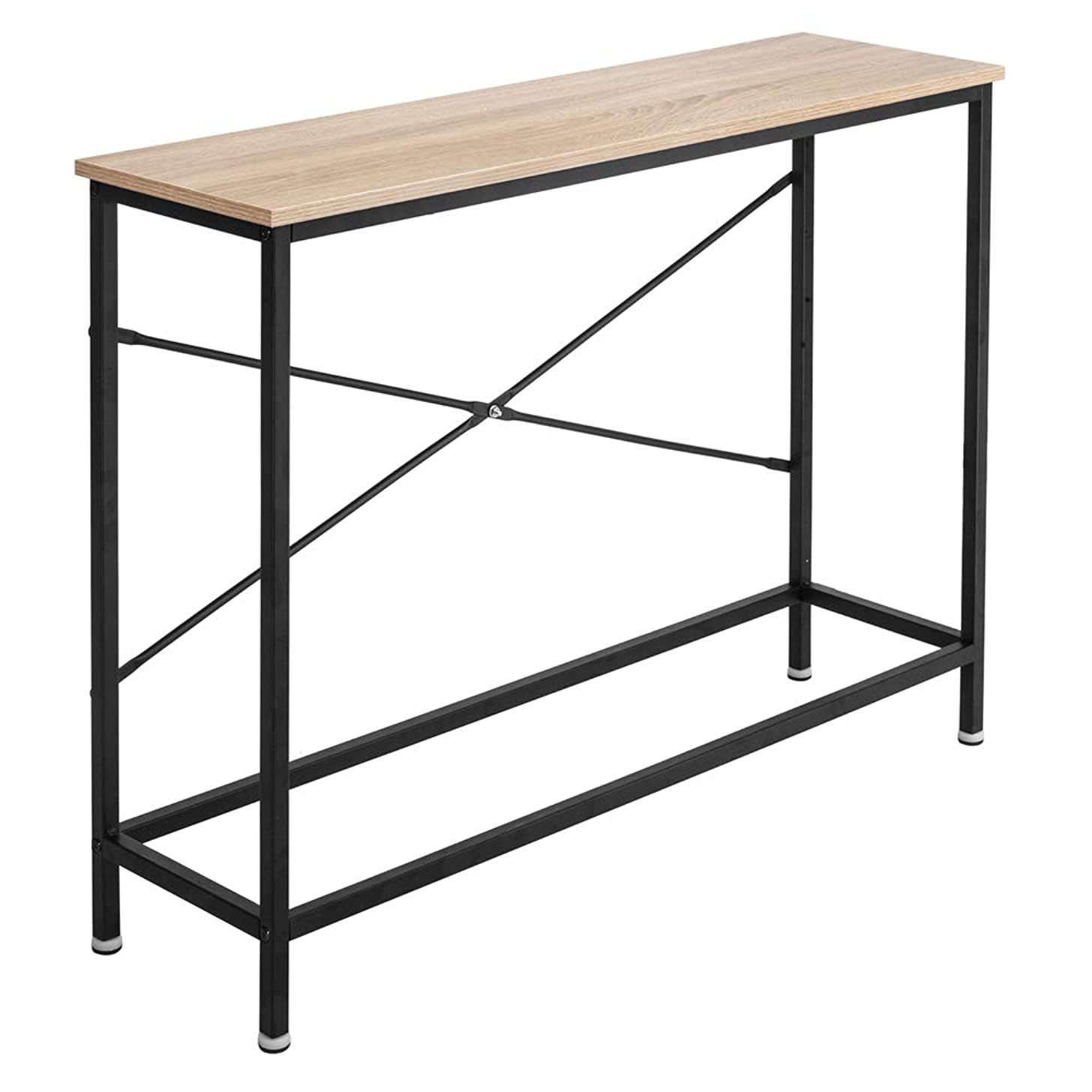 Bonnlo Entry Way Console Table Sturdy Metal Frame Sofa Table with Scratch-Resistant & Water-Resistant Wooden Top