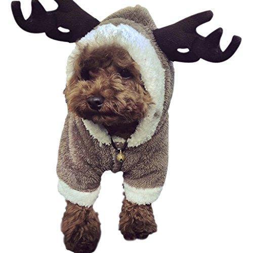 Warmer Hundemantel Weihnachten Verkleidung Cosplay Kostüme Pullover Pulli Weste Hoodie Wintermantel für Hund und Katze viele Größe