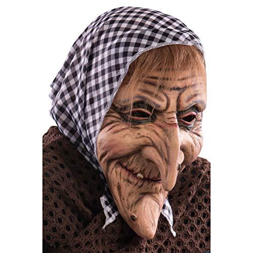 Maschera Vecchietta Lattice Befana Adulto Epifania Carnevale Strega Halloween