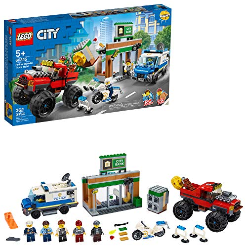 LEGO City Police Monster Truck Heist 60245 Police Toy, Cool Building Set for Kids, New 2020 (362 Pieces)