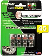 Quick Pressure QP-000045 Chrome Plated Brass 45 psi Tire Pressure Monitoring Valve Cap, (Pack of 4)