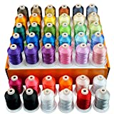 New brothread 42 Spools 1000M (1100Y) Polyester Embroidery Machine Thread Kit...