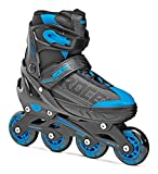 Roces Inline-Skates Jokey 1.0 Roller en Ligne Garçon, Noir/Bleu, Taille 30-33