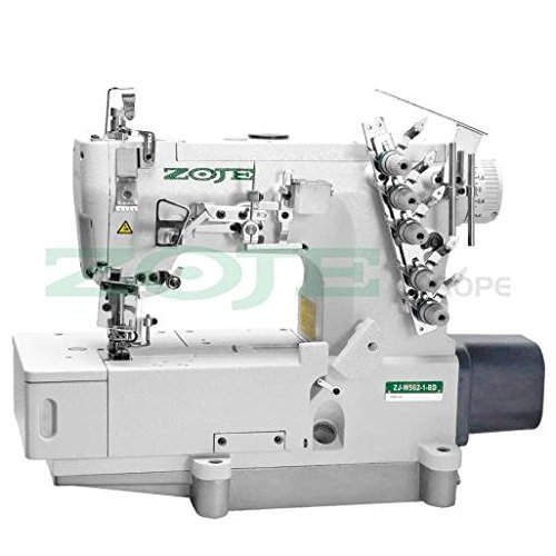 ZOJE Coverlock - Máquina de coser industrial, máquina de coser industrial, con mesa y estructura)