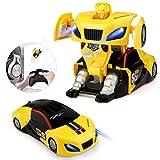 Baztoy Coche Teledirigido Coche Radiocontrol RC Robot Car Transformar Recargable...