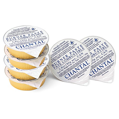 Chantal Fondue Y-Burner Paste Fuel, Set of 6