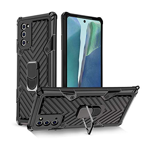 MYY Samsung Galaxy Note 20 Ultra 5G Case, [Military Grade] Protective Phone Case with Magnetic Car Mount Ring Kickstand for Samsung Note 20 Ultra 6.9 inch, (Black)