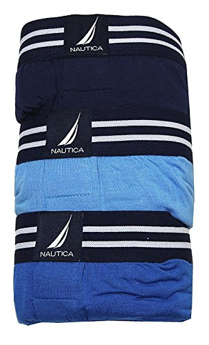 Nautica Mens 3-Pack Modal Boxer ( Pack of 3 ) Assorted Blue - XLarge