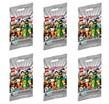 Lego Minifigure Series 20 - New Sealed Blind Bags - Random Set of 6 New 2020 Mini Figures (71027)