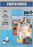 PPD Inkjet - A3 (297 x 420 mm) x 50 Hojas de Papel Fotográfico Brillante 280 g/m² - Calidad Super Premium - Secado Instantáneo - Para Todas Impresoras de Inyección de Tinta - PPD-16-50