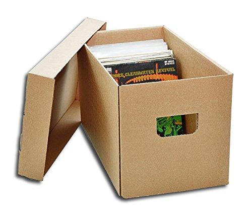"""Caja de cartón para Guardar 100 a 150 Discos de Vinilo Singles 7"""" Y EP (Los Discos Pequeños) / Ref.2030"""