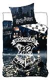 Harry Potter - Juego de ropa de cama, diseño del castillo y escudo de Hogwarts