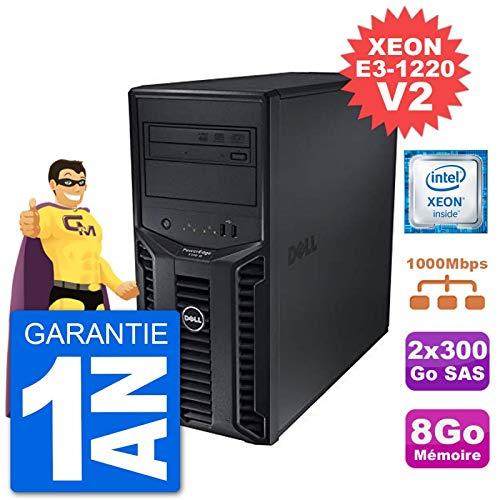 Dell Server Poweredge T110 II Xeon Quadcore E3-1220 V2 8gb 2x300go Perc H200 SAS (Reconditioned Certified)