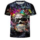 Camiseta de Calavera Manga Corta Unisex niños M