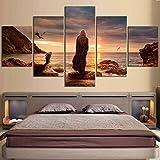 新しい壁アーティスト家の装飾絵画5ボードHD再生玉座モダンスタイル画像ギフト30x50 30x70 30x80cmフレームレス