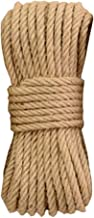 Natural Jute Rope 30 Meters(98 ft) 12mm Hemp Rope for Arts Crafts Gift Wrapping