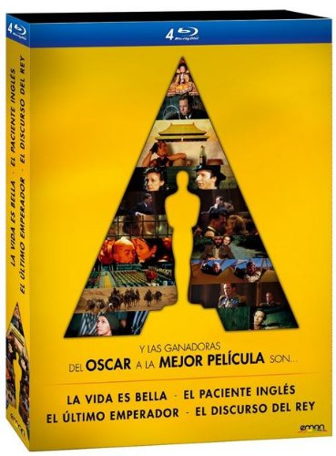 Pack 4 Mejores Películas Oscar: El Discurso Del Rey + El Paciente Inglés + El Último Emperador + La Vida Es Bella [Blu-ray]