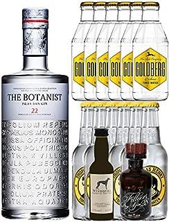 Gin-Set The Botanist Islay Dry Gin 0,7 Liter  Windspiel Premium Dry Gin Deutschland 0,04 Liter  Filliers Premium Dry Gin Belgien 0,05 Liter MINIATUR, 6 x Thomas Henry Tonic Water 0,2 Liter, 6 x Goldberg Tonic Water 0,2 Liter