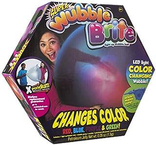 كرة وبل ببل قابلة للنفخ تضيء بالوان مختلفة على شكل فقاعة كبيرة
