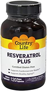 Resveratrol Plus, 120 Vegetarian Capsules, Country Life