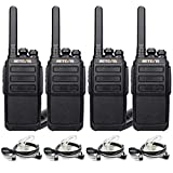 Retevis RT28 Two Way Radios Long Range,Rechargeable Walkie Talkies,2 Way Radios with Earpieces 2 Pin Covert Air Acoustic,VOX Hand Free Emergency Alarm Security Police(4 Pack)
