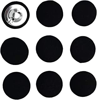Bonarty Pack of 10Pcs Fabric Craft Buttons for DIY, Sewing and Crafting - Black