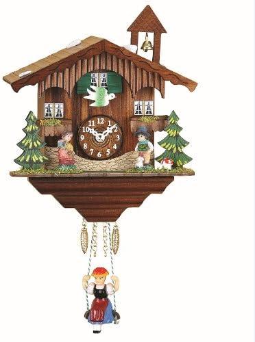 New Free Shipping 5 popular Trenkle Kuckulino Black Forest Clock with House Swiss Quartz Mov