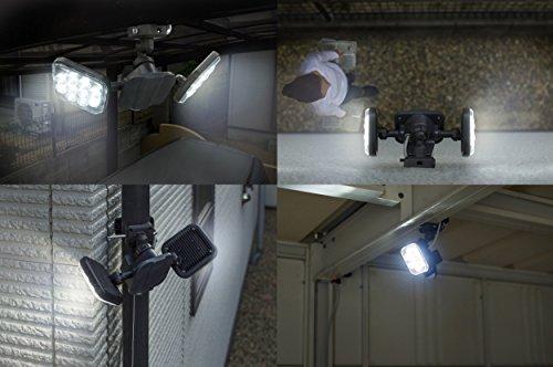 『ムサシ RITEX フリーアーム式LEDセンサーライト(8W×2灯) 「コンセント式」 防雨型 LED-AC2016』の7枚目の画像