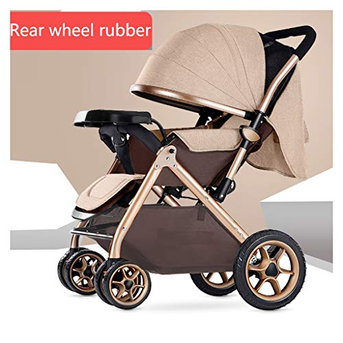 Find Bargain Baby Stroller can sit Reclining Light Stroller Folding Two-Way Stroller Child Baby Four...